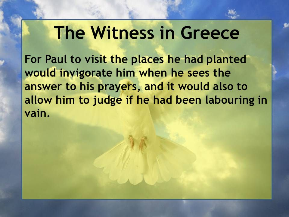 The Witness in Greece