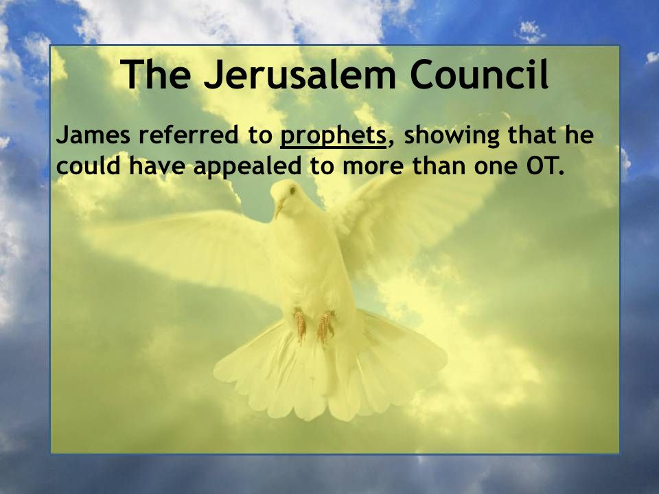 The Jerusalem Council James referred to prophets, showing that he could have appealed to more than one OT.
