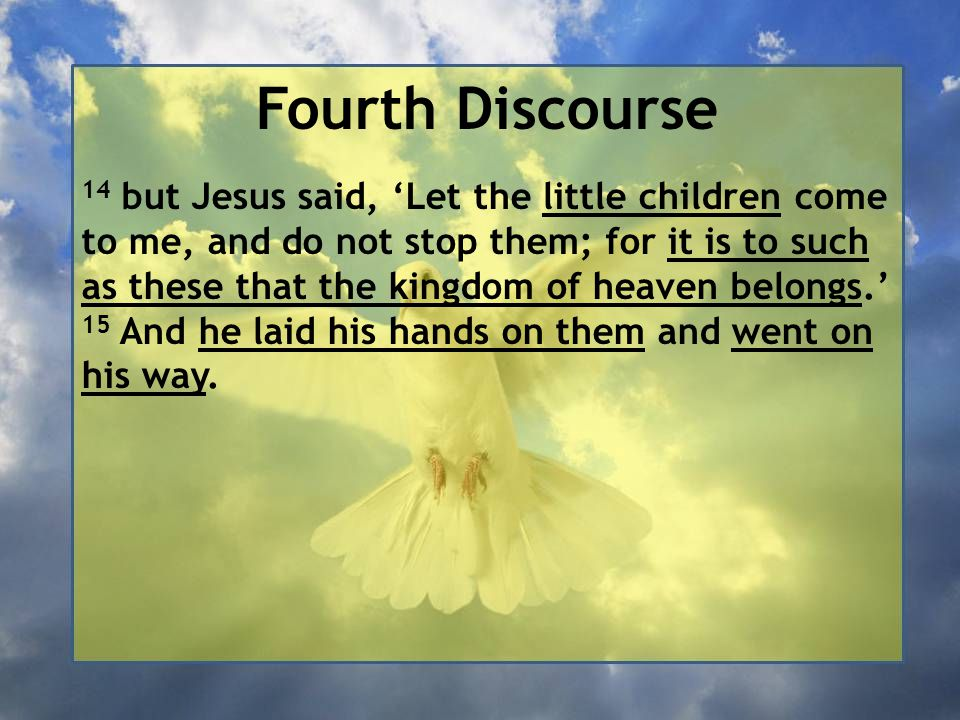 Fourth Discourse
