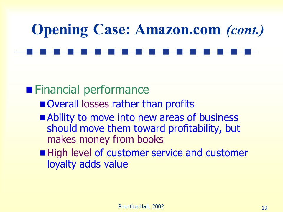 Opening Case: Amazon.com (cont.)