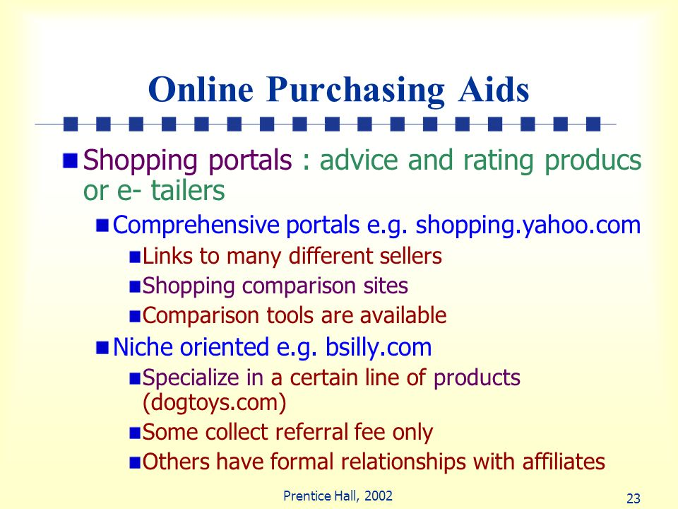 Online Purchasing Aids