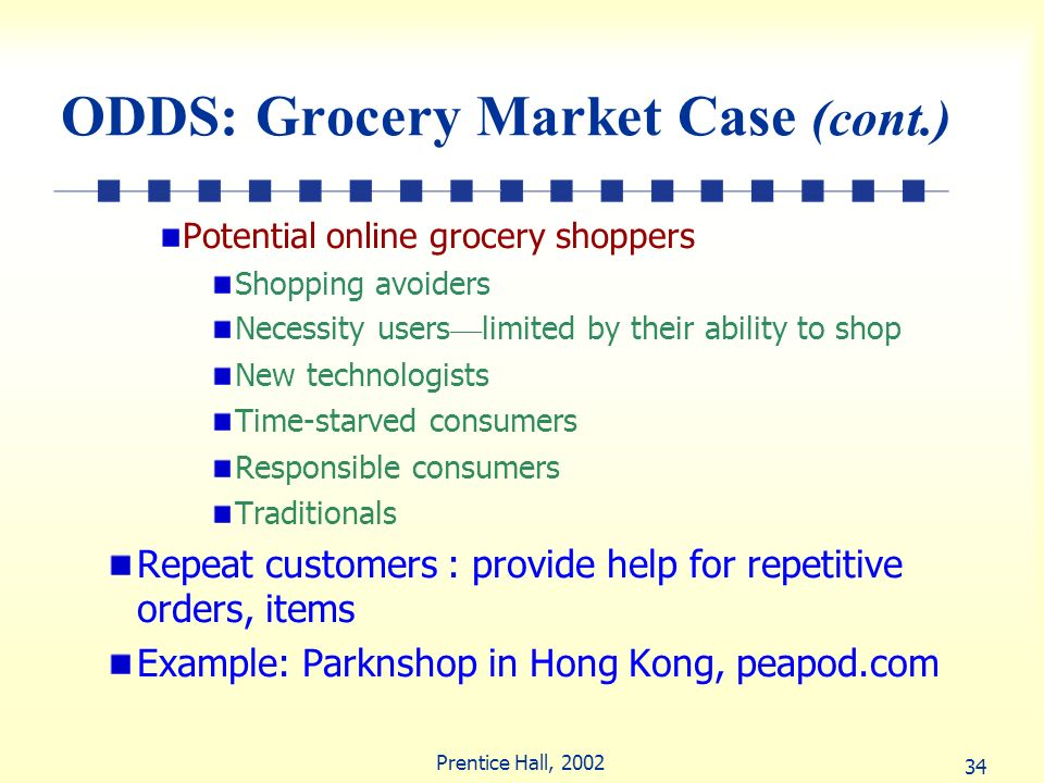 ODDS: Grocery Market Case (cont.)