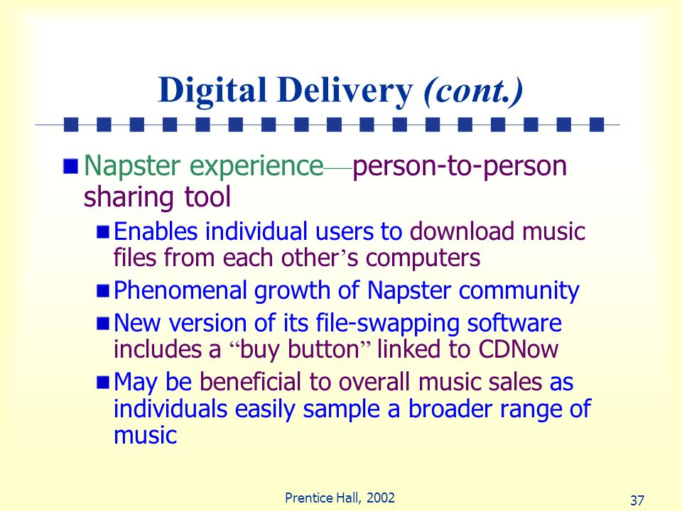 Digital Delivery (cont.)
