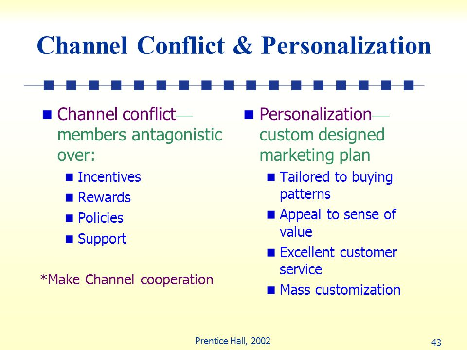 Channel Conflict & Personalization