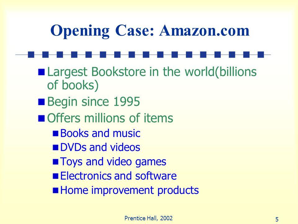 Opening Case: Amazon.com