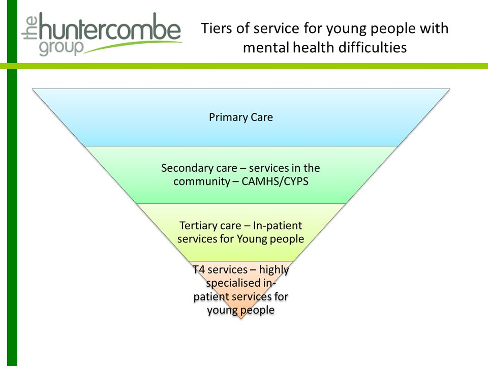 Tiers of service for young people with mental health difficulties