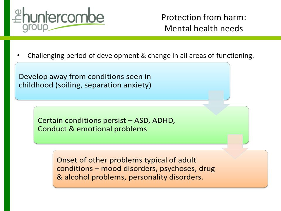 Protection from harm: Mental health needs