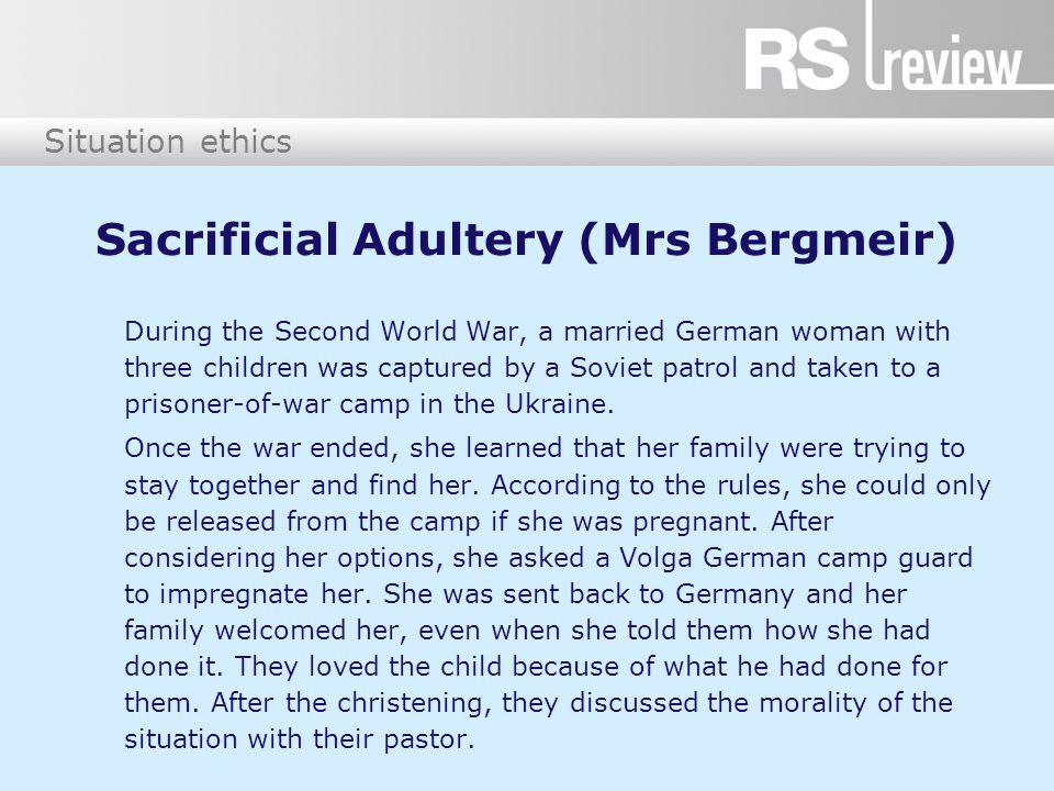 Sacrificial Adultery (Mrs Bergmeir)