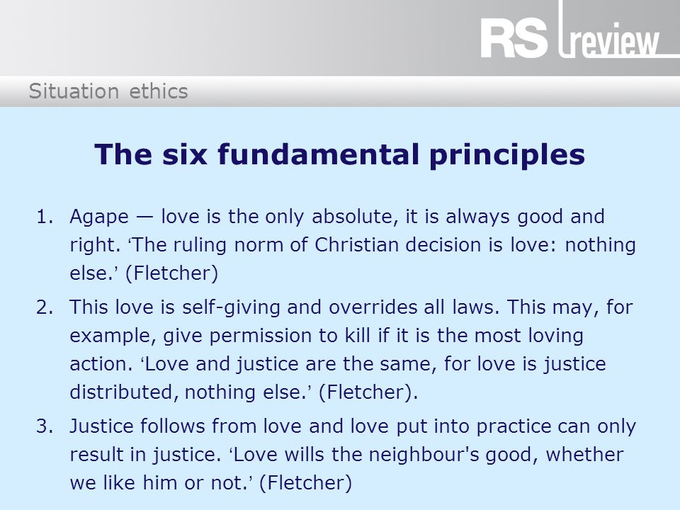 The six fundamental principles