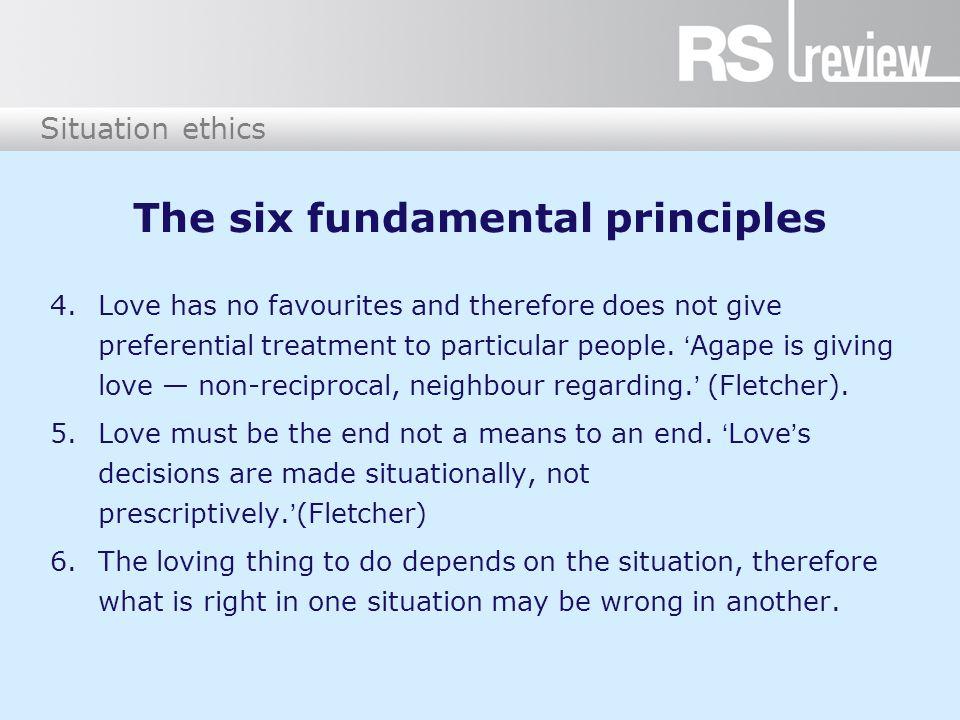 The six fundamental principles