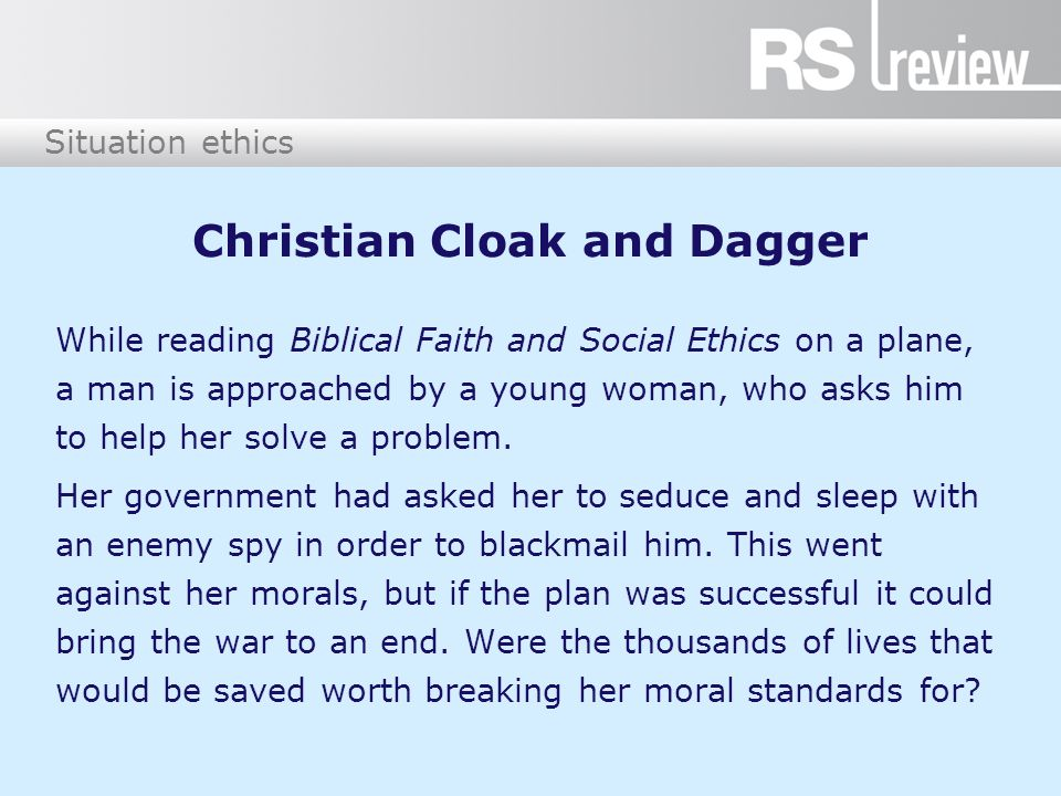 Christian Cloak and Dagger