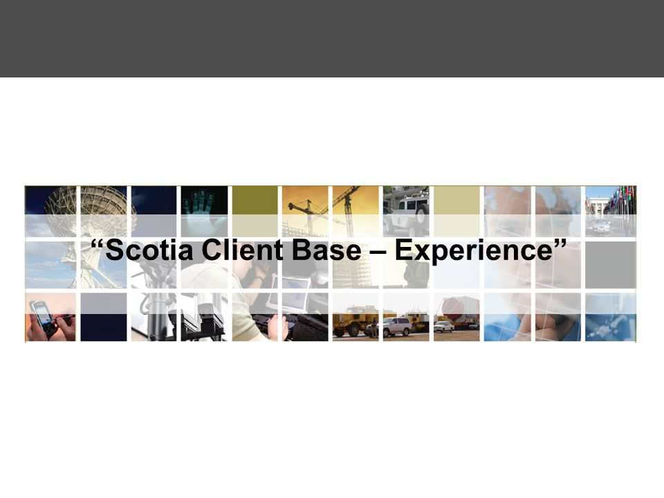Scotia Client Base – Experience