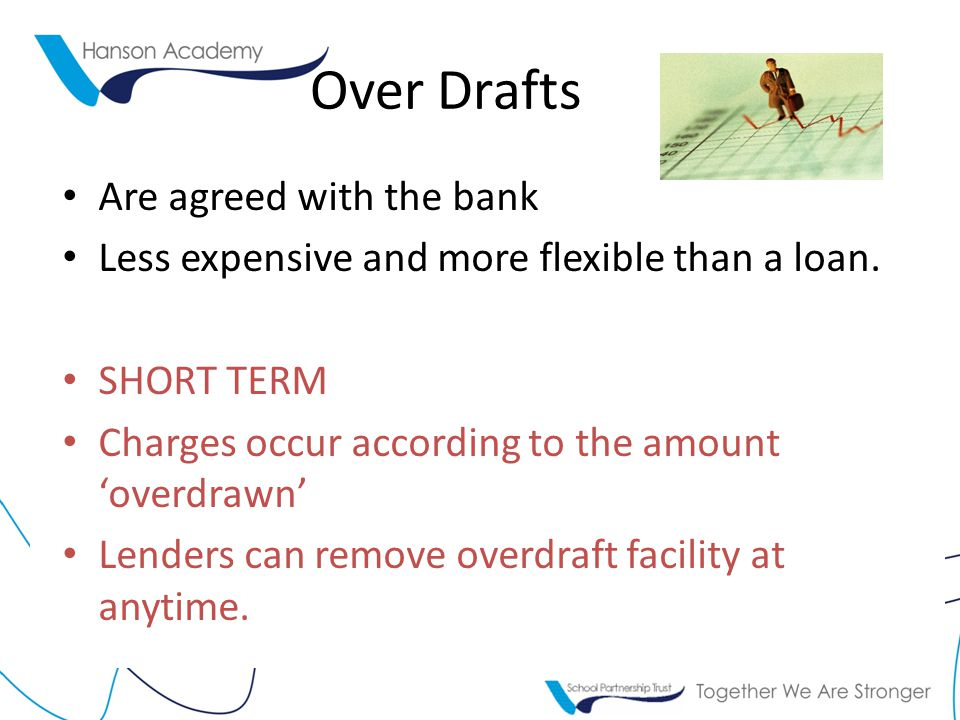 Over Drafts Are agreed with the bank