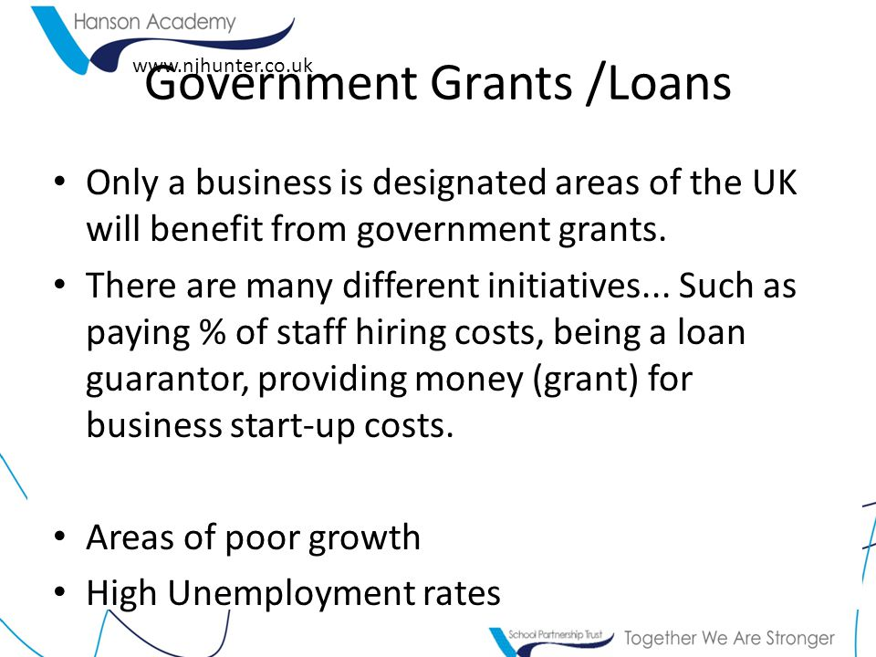 Government Grants /Loans
