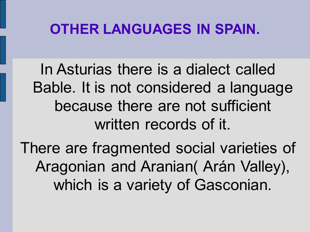 OTHER LANGUAGES IN SPAIN.