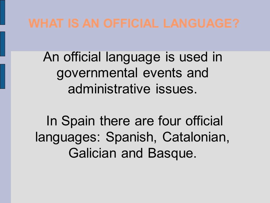 WHAT IS AN OFFICIAL LANGUAGE