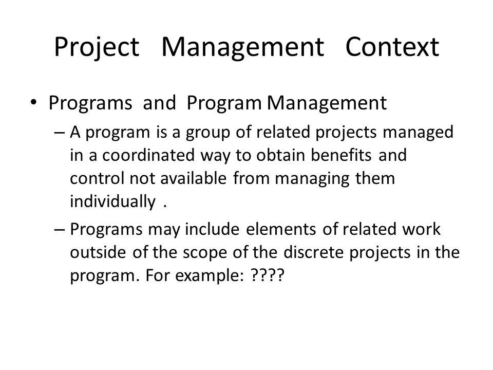Project Management Context