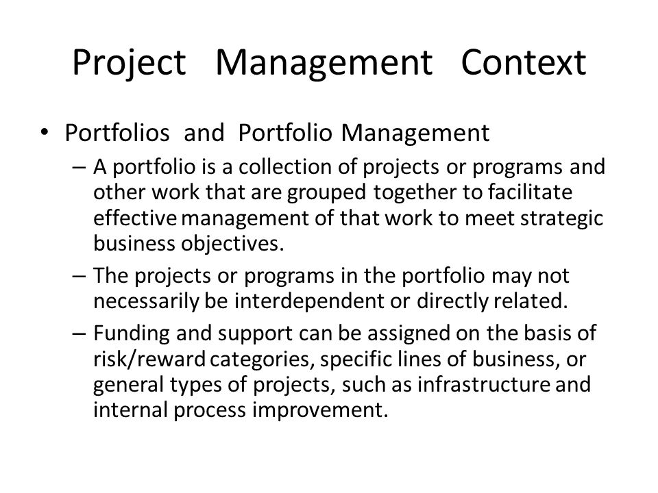 Project Management Context