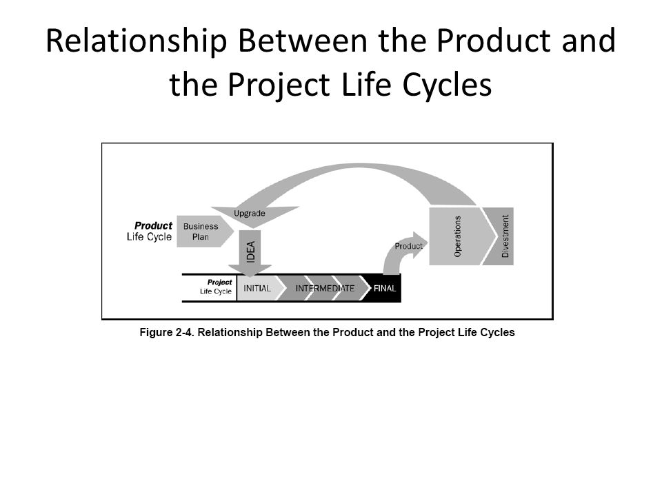 Relationship Between the Product and the Project Life Cycles