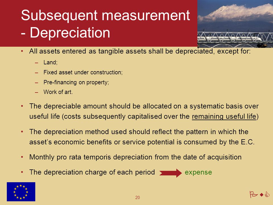 Subsequent measurement - Depreciation