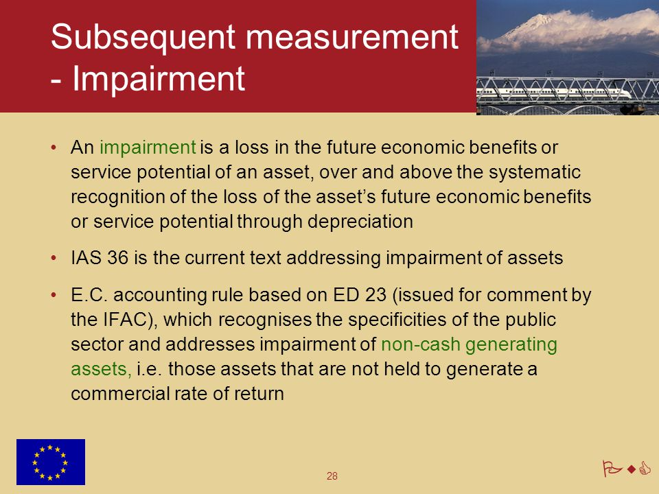 Subsequent measurement - Impairment