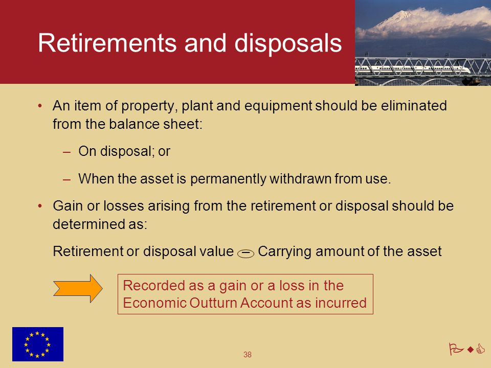 Retirements and disposals