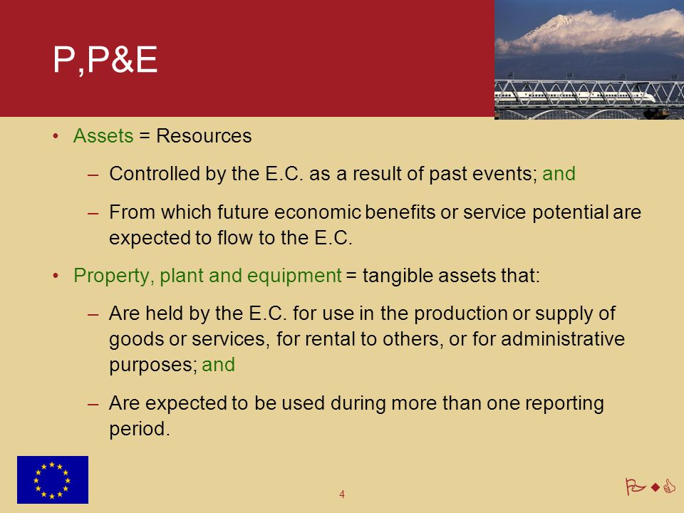 P,P&E Assets = Resources