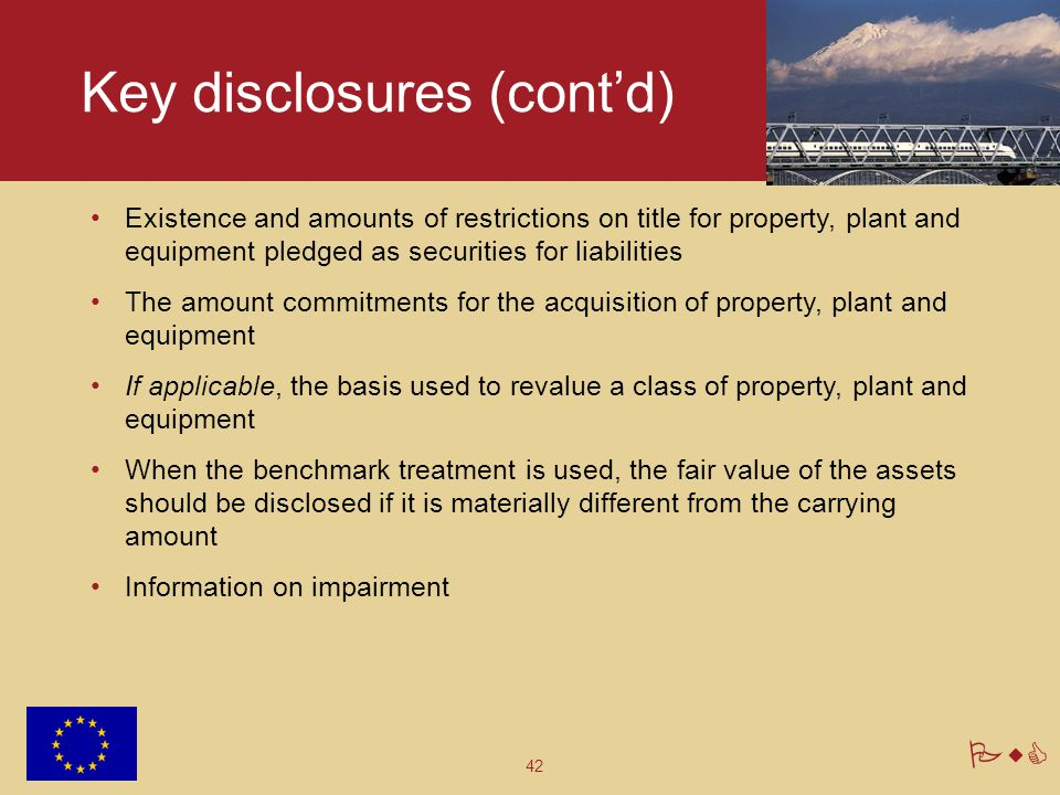 Key disclosures (cont'd)
