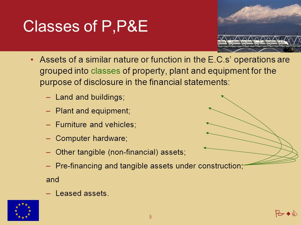 Classes of P,P&E