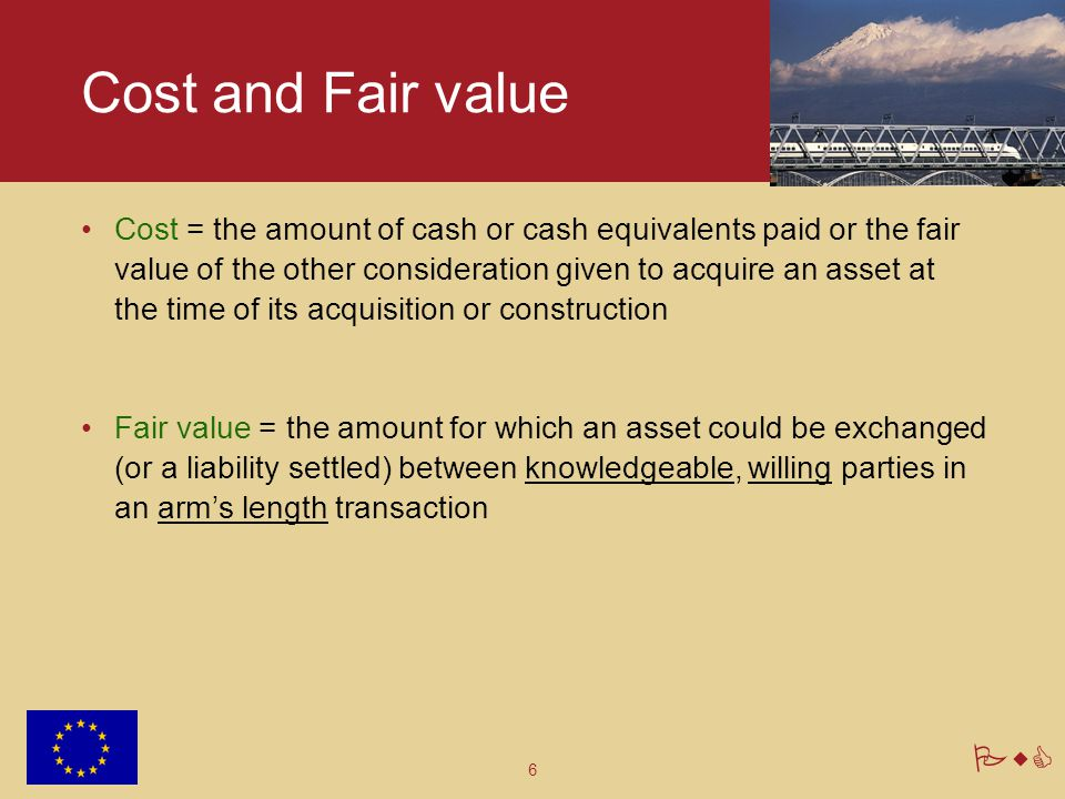 Cost and Fair value