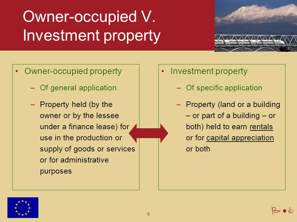 Owner-occupied V. Investment property