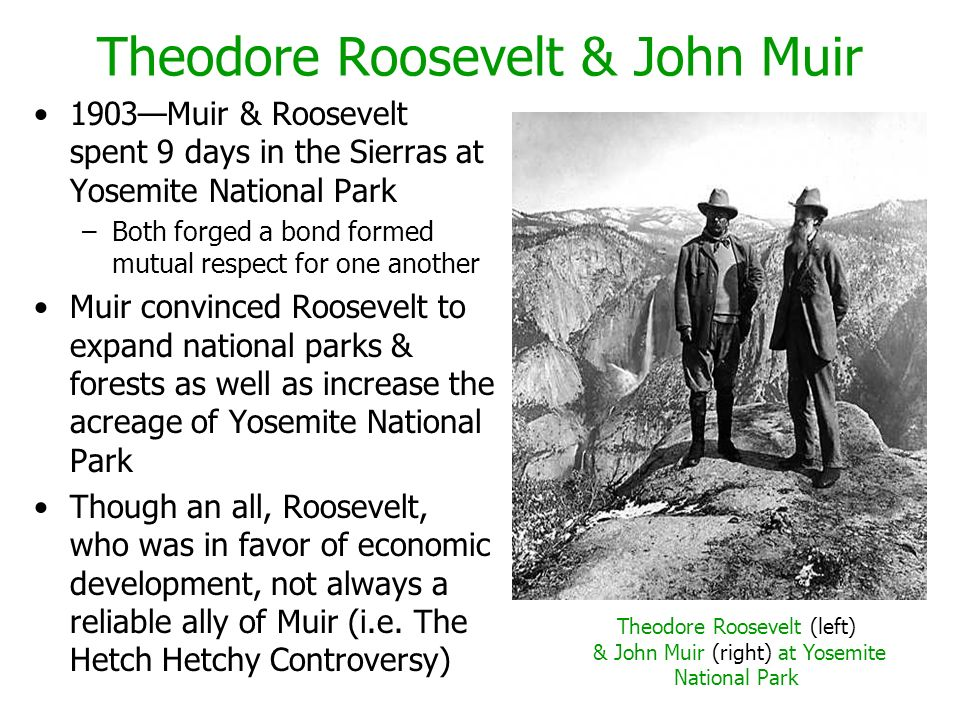 Theodore Roosevelt & John Muir