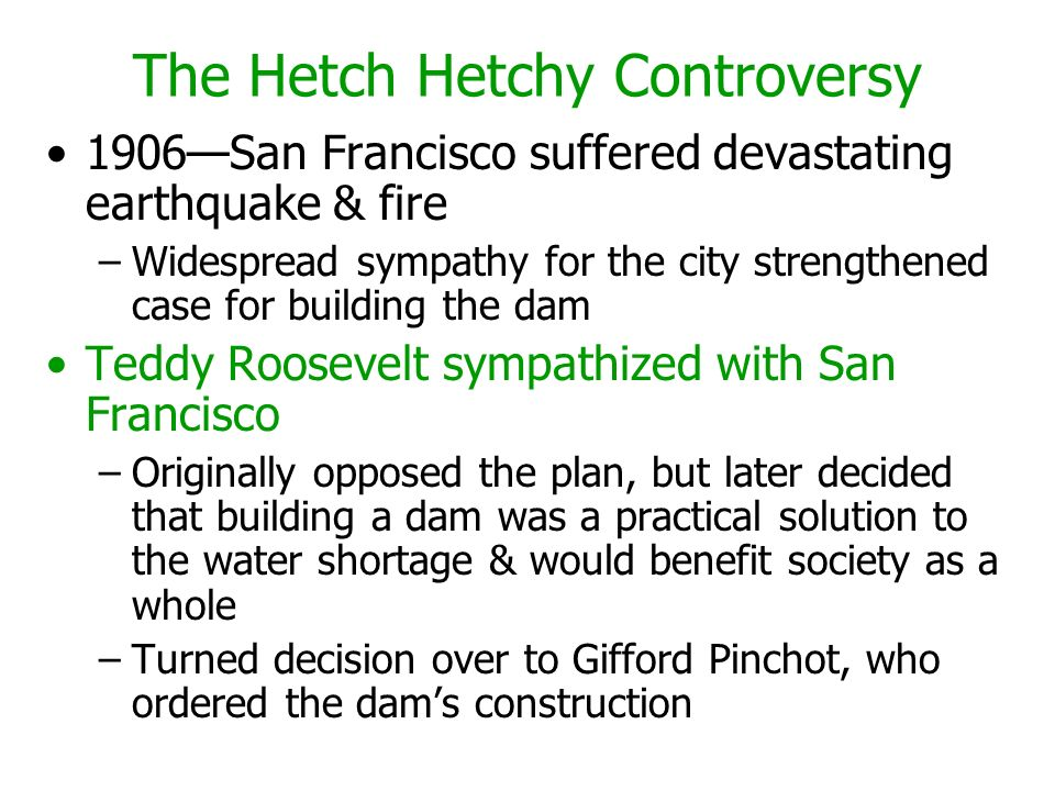 The Hetch Hetchy Controversy
