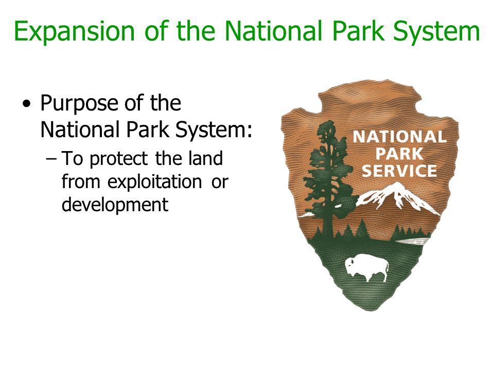 Expansion of the National Park System