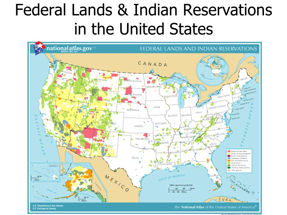 Federal Lands & Indian Reservations in the United States
