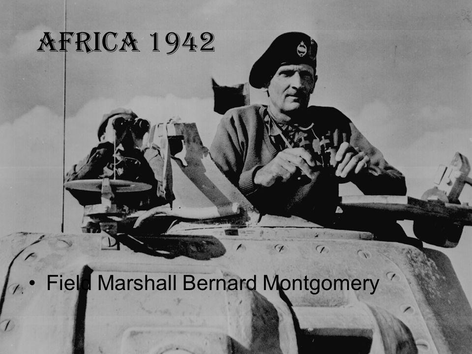 Africa 1942 Field Marshall Bernard Montgomery