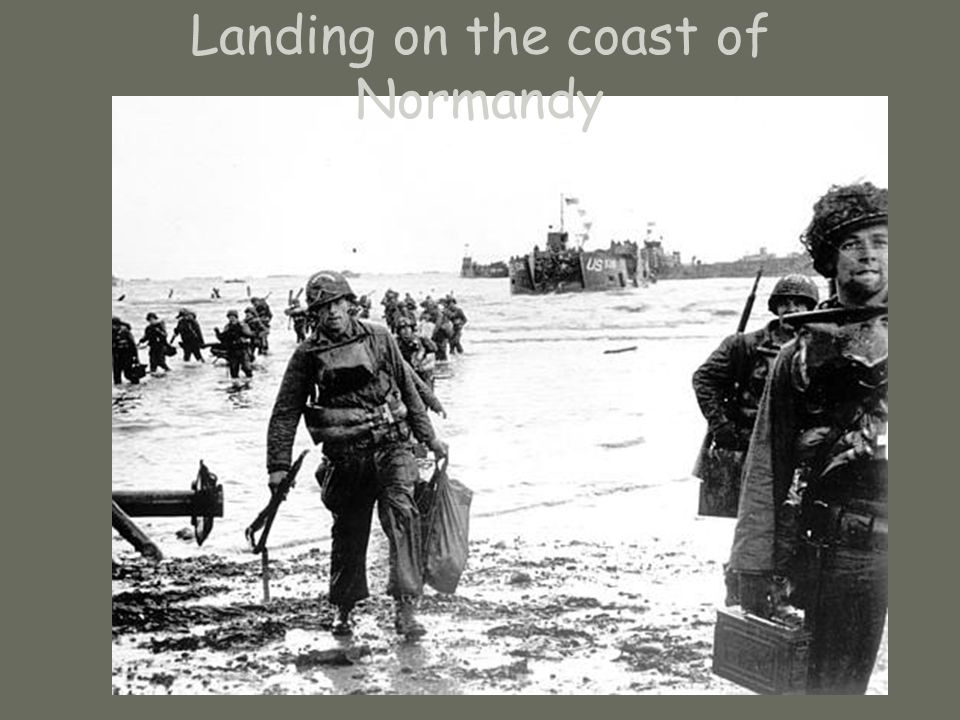 Landing on the coast of Normandy