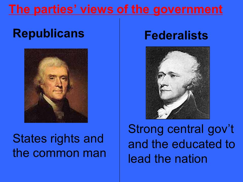 The parties' views of the government