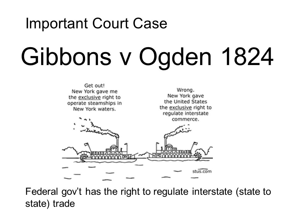 Gibbons v Ogden 1824 Important Court Case