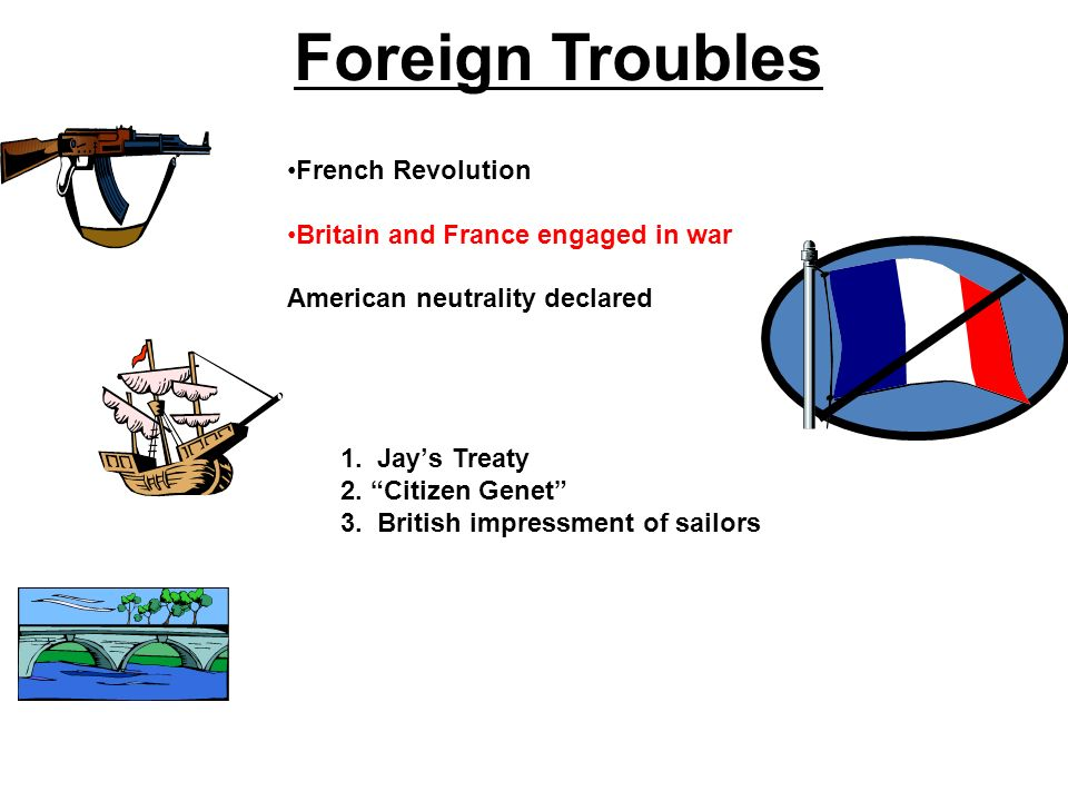 Foreign Troubles French Revolution Britain and France engaged in war