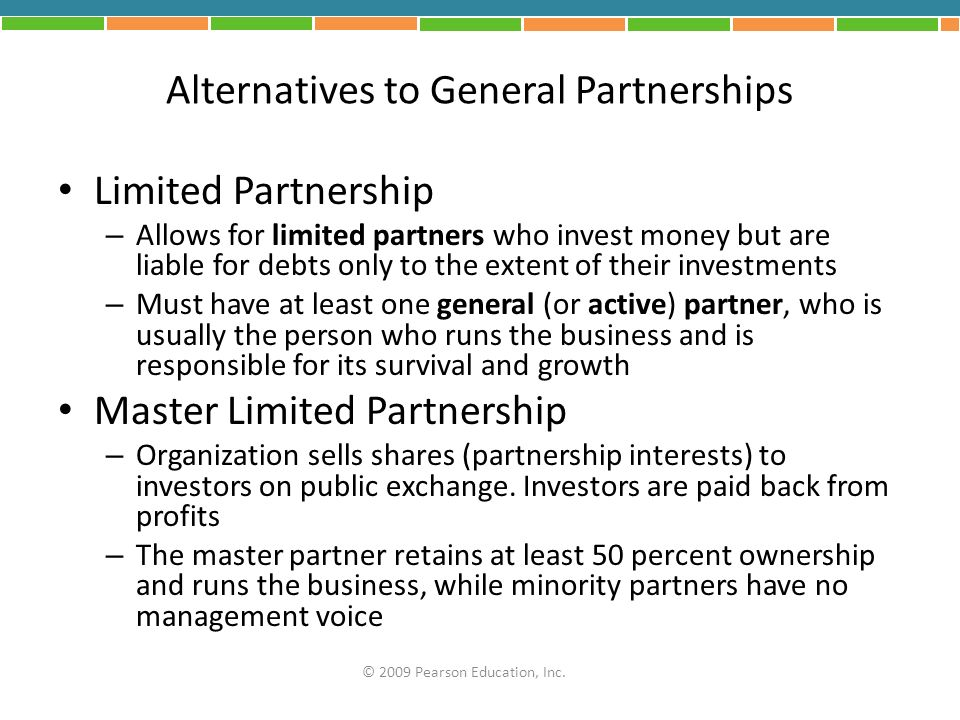 Alternatives to General Partnerships