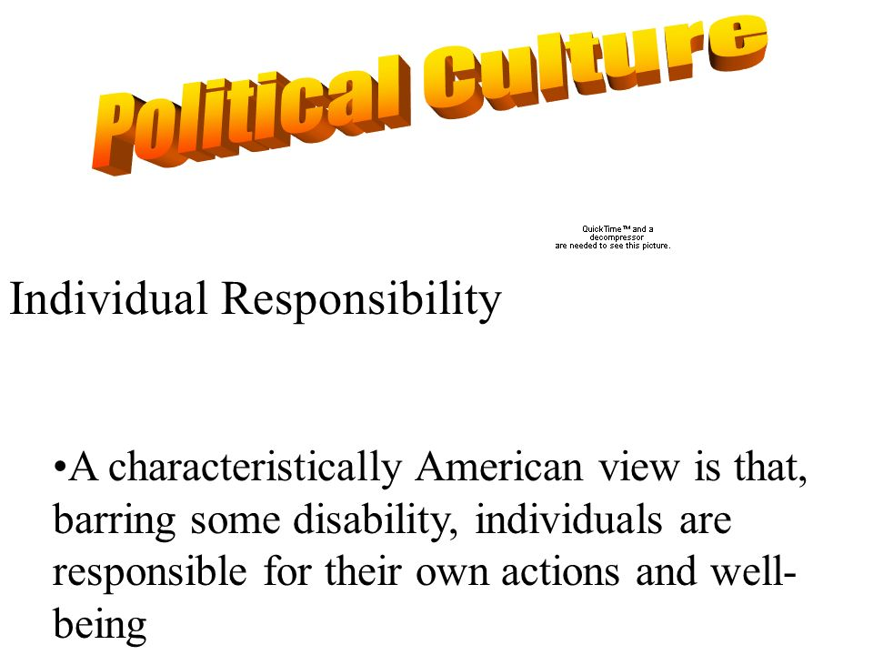 Political Culture Individual Responsibility