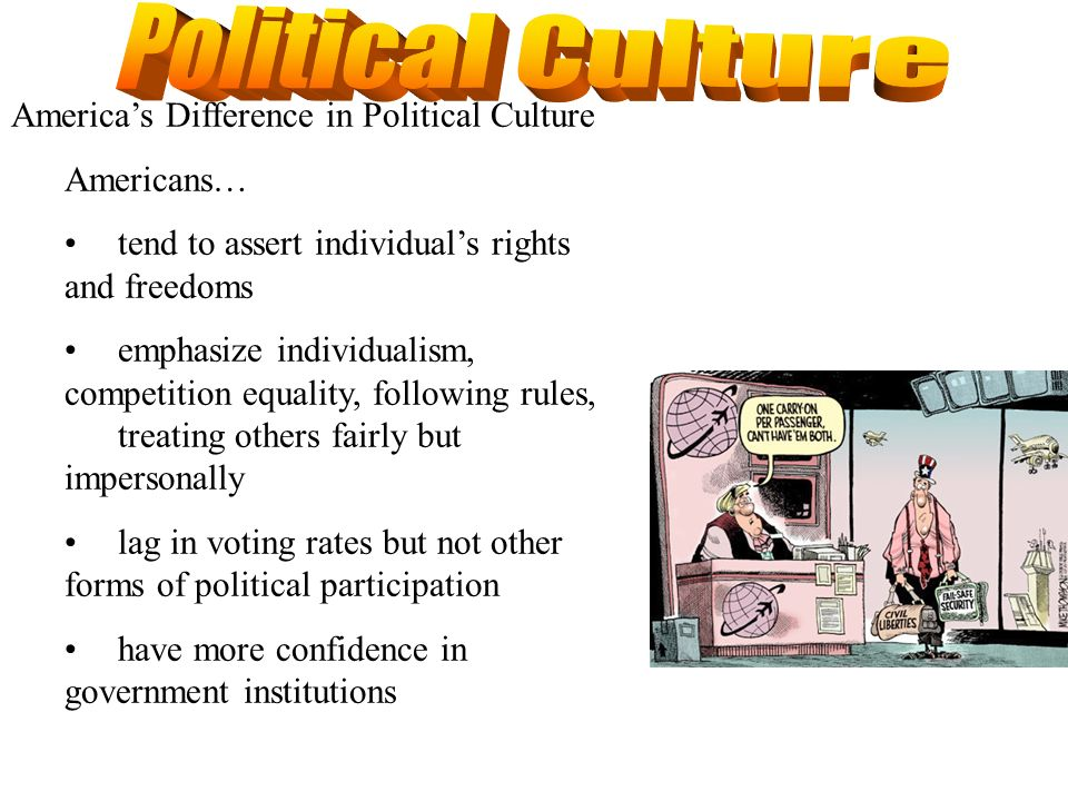 Political Culture America's Difference in Political Culture Americans…