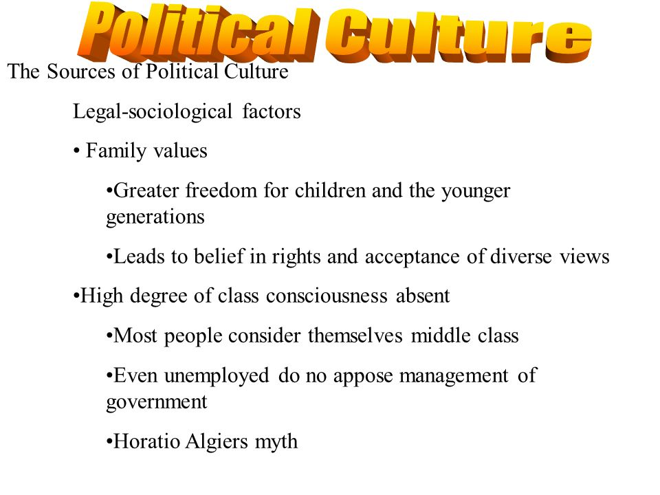 Political Culture The Sources of Political Culture