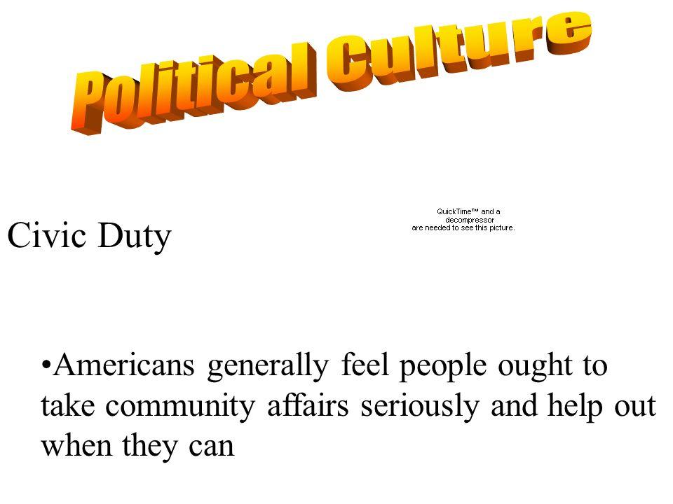 Political Culture Civic Duty