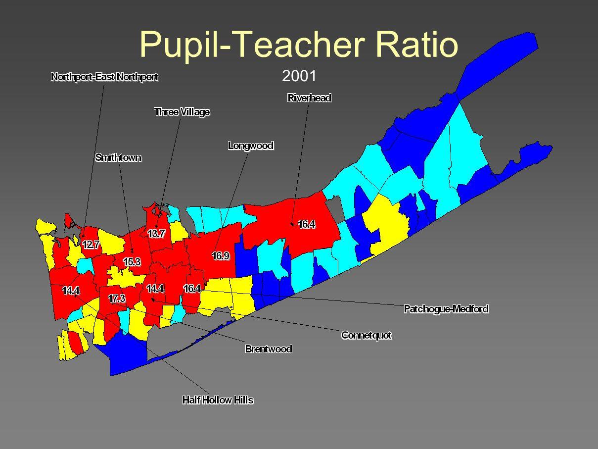 Pupil-Teacher Ratio 2001
