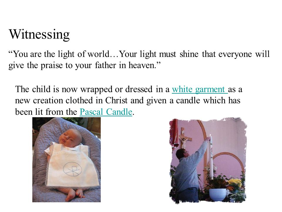 Witnessing You are the light of world…Your light must shine that everyone will give the praise to your father in heaven.