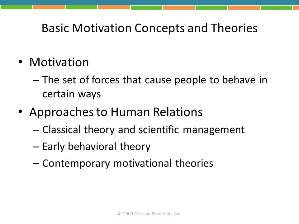 Basic Motivation Concepts and Theories