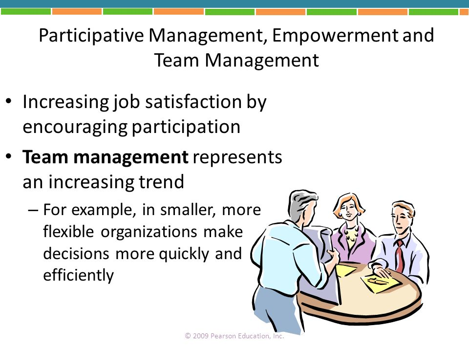 Participative Management, Empowerment and Team Management