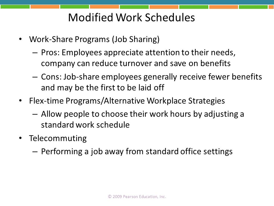 Modified Work Schedules